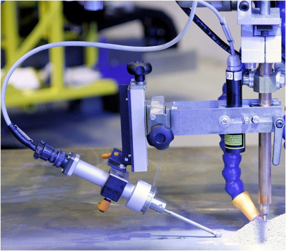 Фото: Щуп электромеханической системы слежения за сварочным швом